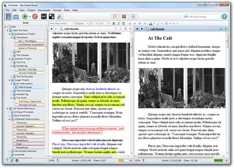 scrivener writing software helps self published authors organise their writing materials